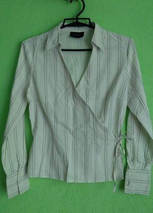 Рубашка, блуза, блузка женская белого цвета principles, р. 40/...