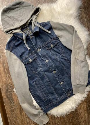 Джинсовая куртка бомбер мужской
