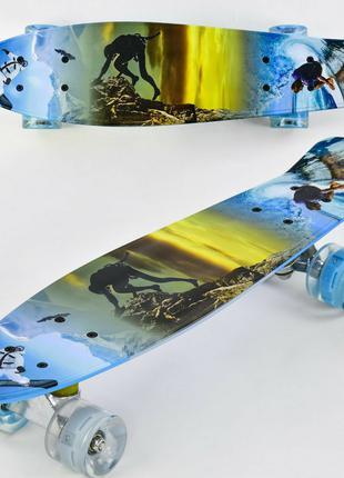 Скейт детский Penny board F 3270 Пенни борд со светящимися колеса