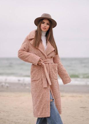 Зимнее пальто  с поясом. длинное. хаки. шоколад. пудра. бордо....
