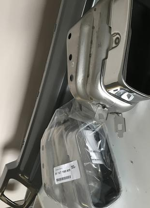 Нижняя накладка бампера на два выхлопа для бмв F01/02