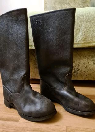 Кирзовые сапоги 38 размера. Теплая рабочая обувь