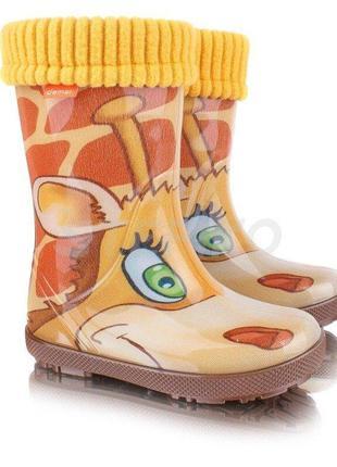 Демар demar . детские резиновые сапоги. жираф