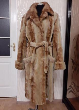 Роскошная норковая шуба . меховое пальто . торг