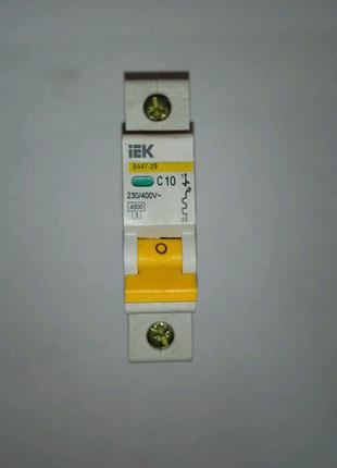 Автоматический выключатель Супер ИЭК 1×10(63)