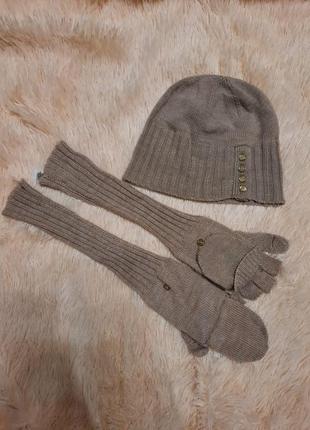 Набор шапка и перчатки calvin klein