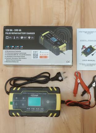 Импульсное зарядное авто аккумуляторов 12/24В с восстановлением
