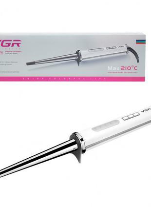 Конусная плойка VGR V-526 с регулировкой температуры 10-19 мм.