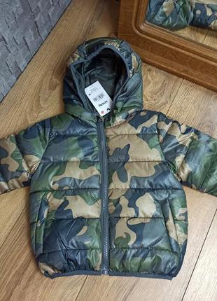 Демисезонная куртка на синтепоне хаки милитари