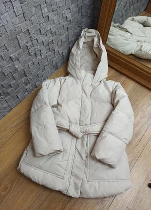 Куртка пуховик zara пух перо зимние пальто