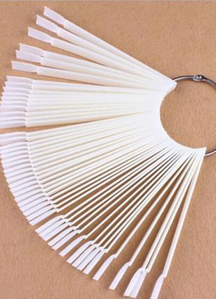 Дисплей веер палитра на 50 типс для демонстрации лаков, гель л...