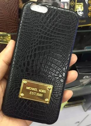 Пластиковый чехол Michael Kors Crocodile Черный для IPhone 6/6s