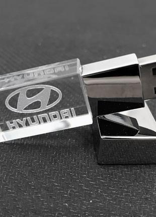 USB флеш-накопитель Hyundai кристалл 32 GB (LED красный)