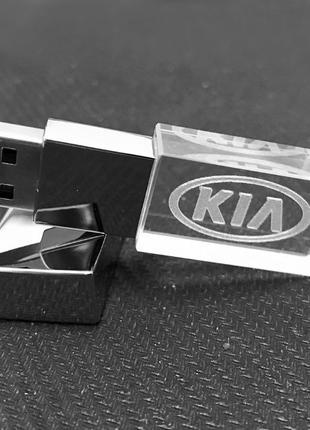 USB флеш-накопитель KIA кристалл 32 GB (LED красный)
