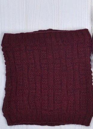 Зимний хомут на флисе шарф снуд