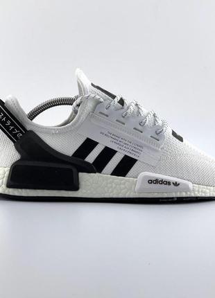 Шикарные мужские кроссовки adidas nmd r1 white