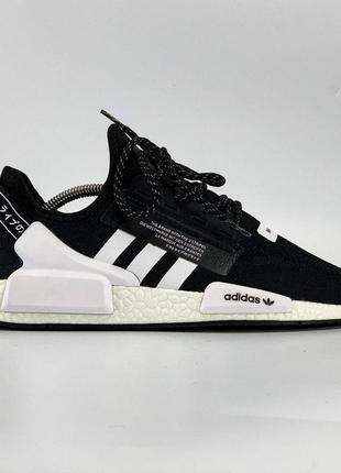 Шикарные мужские кроссовки adidas nmd r1 black