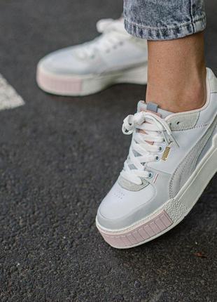 Шикарные женские кроссовки puma select cali sport mix white
