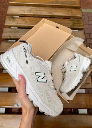 Шикарные женские кроссовки new balance 530 beige