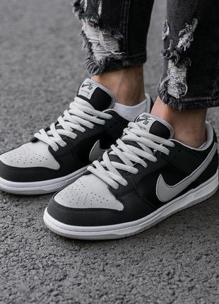 Хит продаж мужские кроссовки nike sb dunk black