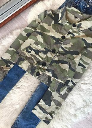 289 уроченный пиджак в стиле милитари h&m