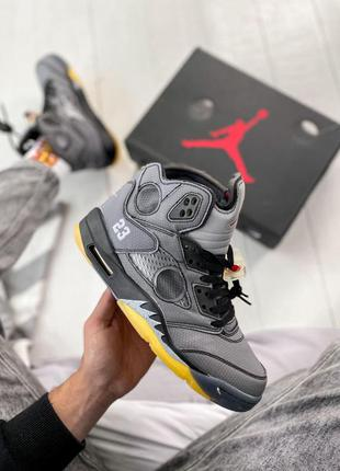 Мужские кроссовки nike air jordan 5 retro x off-white