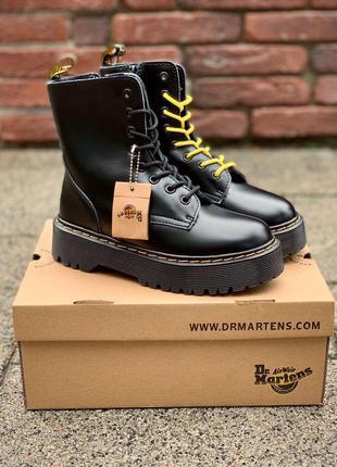 Женские ботинки dr. martens jadon black без меха