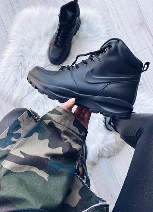 Шикарные мужские оригинальные зимние ботинки nike manoa leather