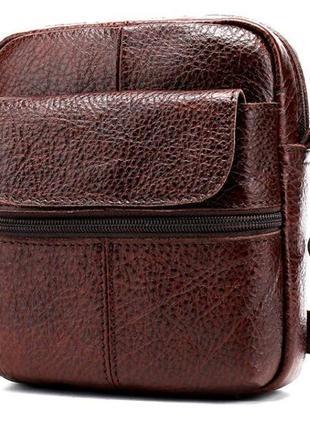 Темно-коричневая кожаная сумка 14650