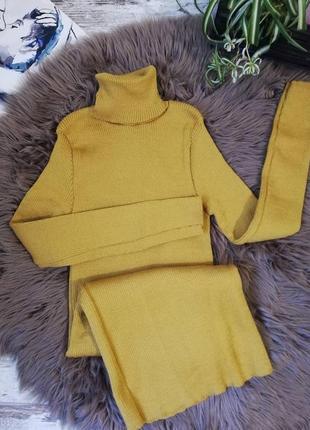Осенний лист, платье рубчик, платье резинка, платье гольф