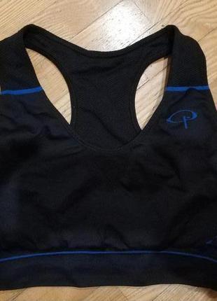 Фитнес бюстгальтер pier robert спортивный топ черный бег здоровье
