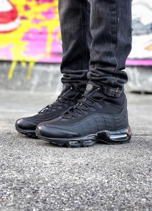 ❄️зимние❄️nike air max 95 sneakerboot black кроссовки найк, чё...
