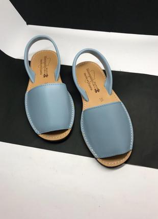 Менорки 36-40 р голубые кожа испания