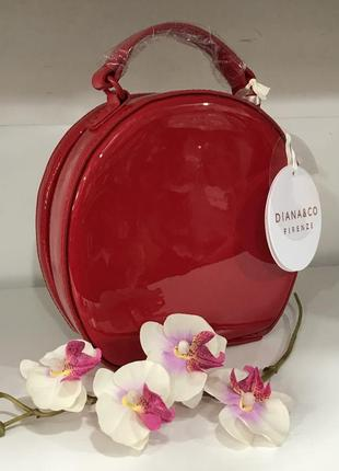 Лаковая каркасная сумочка diana&co эко кожа люкс