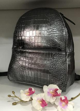 Крутой рюкзак кода италия цвет темное серебро графит