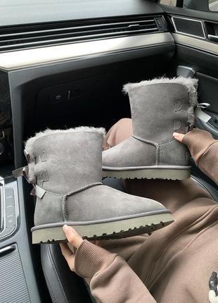 Женские зимние сапоги ugg bailey bow ii boot blue