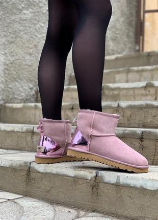 Ugg bailey mini pink женские сапоги