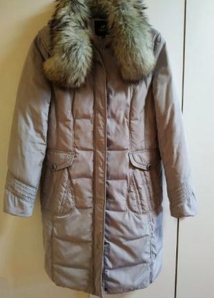 Теплая зимняя куртка, пальто, пуховик (пух, перо)