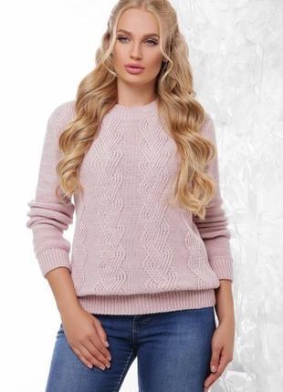 Размер 48-54 свитер кейт пудра