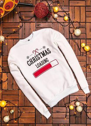 Супер стильный новогодний праздничный свитшот кофта свитер