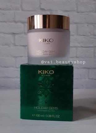 Питательное масло-крем kiko milano для тела с ароматом ванили ...