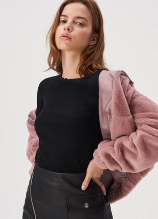 Новая базовая облегающая черная кофта лонгслив блузка польша к...