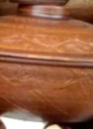 Красная глина. Сковорода- пловник 3,5 литра.