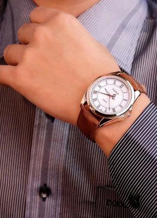 Часы мужские наручные стильные кварцевый механ.