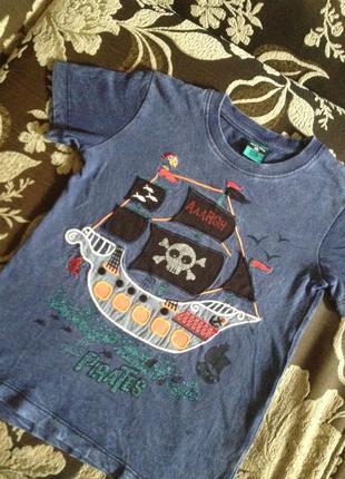 Детская футболочка с рисунком на 4-5 лет