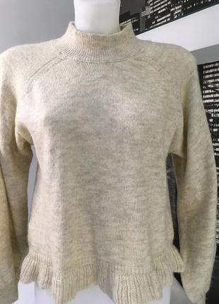 Красивый свитер с рюшей по низу и рукавами фонариками🌟👸👑брендm...