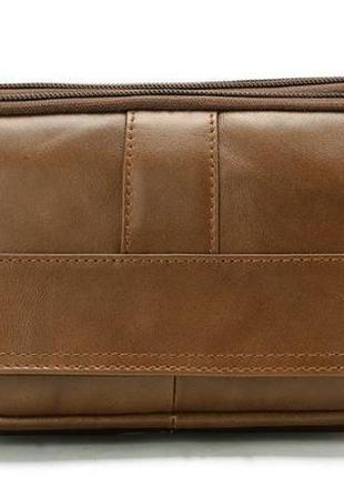 Мужская, кожаная сумка на пояс 14726
