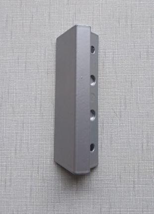 Ручка ракушка балконная алюминиевая, серебро