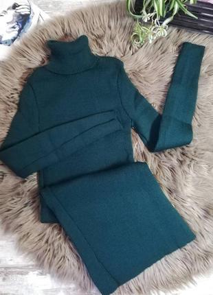 Платье, платье гольф, платье рубчик, платье резинка