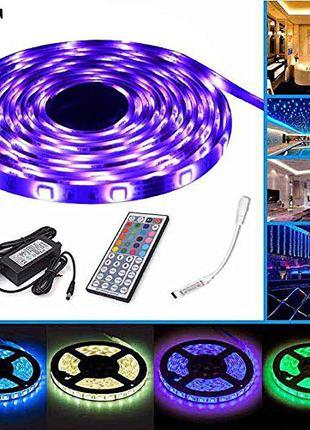 Светодиодная LED лента 5050 RGB с котроллером управления и пул...